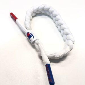 Rastaclat x Champion Shoelace White Bracelet